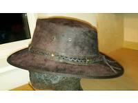 Soft Leather Foldable Crushable Aussie Cowboy Hat