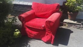 Free!!! Ektorp IKEA armchair. Red corduroy.