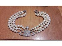 Vivienne Westwood Choker pearl necklace