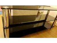 As new Black glass tv stand from argos