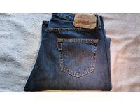 Men's Levi's Original 501 Mid Blue Denim Straight Leg Button Fly Jeans W36 L34