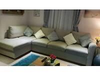 Static caravan corner sofa bed