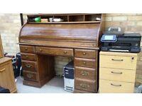 Solid wooden bureau desk