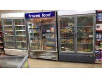 3 large upright freezers