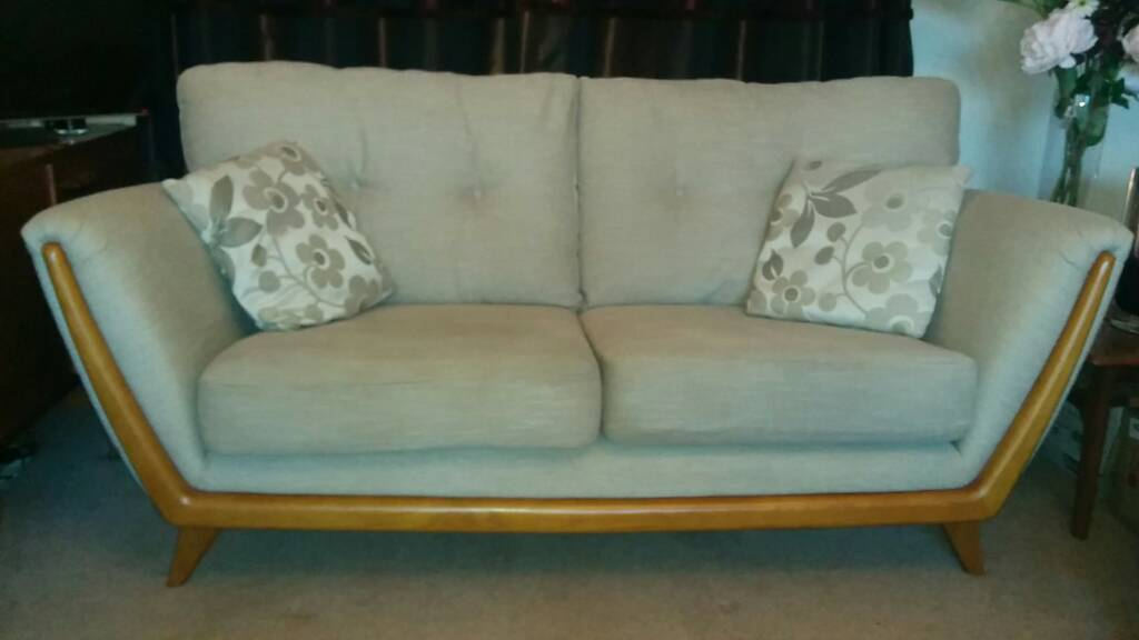 3 Piece Suite And Footstool Scandi