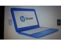 "HP Stream 11.6"" blue Laptop"
