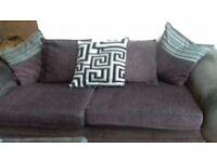 3 seater sofa & armchair slight tear on back