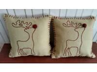 Christmas Reindeer Cushions