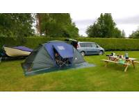 6 man tent and with extras