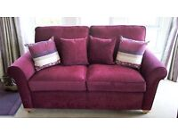 2 SEATER SOFA WITH CUSHIONS ALL AS NEW AND COMPLIANT WITH ALL FIRE REGULATIONS
