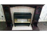 OVNO Robinson Willey FireGem Visa2 Gas Fire- Surround & Matching Mirror