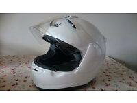 MOTORCYCLE HELMET - As new : ARAI AXCES II - DIAMOND WHITE (S)