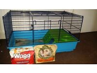 small animal cage + extras ( mainly for guinea pigs )