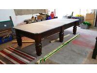 10x5 foot mahogany snooker table mint