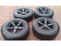VW Amarok - Winter Tyres on 5 Spoke Matt Black Alloy wheels
