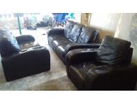 3 Seater Sofa, 2 seater sofa and chair, as seen