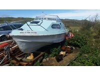 Shetland 17ft fishing boat