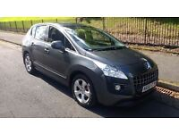 peugeot 3008 sport hdi 1.6 turbo diesel 2009 59 plate metallic paint alloys