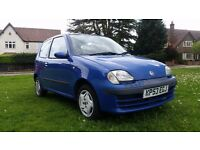 **12 MONTHS MOT** 2003 FIAT SEICENTO 1.1 ACTIVE 3 DOOR HATCHBACK **VERY LOW MILEAGE+RECENT SERVICE**