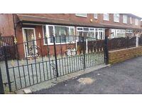 Iron garden gates and railings