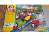 Tomy Tomica World road and rail Thomas Deluxe set