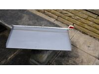 waterfall blade for pond / water feature 24 inch wide stainless steel.