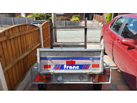 Small Franc Trailer with Cover and Spare Wheel