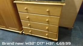 Brand new pine drawers