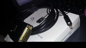DisplayPort Male to DVI (21+1) Male 1080p - Black 6ft, 10ft BRAND NEW (6, 7, 67)