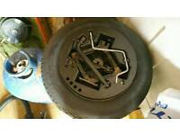 Ford KA spacesaver wheel and tyre. Fits fiat also