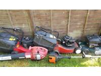 Job lot lawn mowers strimmer and blower