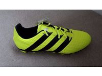 Adidas Ace 16.4. size 8 moulded stud boots BRAND NEW yellow