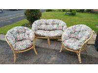 3 Piece Cane Conservatory Furniture