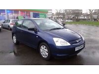 HONDA CIVIC 1.4 MANUAL IN EXCELLENT CONDITION. LONG MOT & TAX ROAD TAX. 3 OWNERS. SERVICE HISTORY
