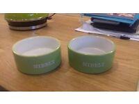 2 x med sized feeding bowls