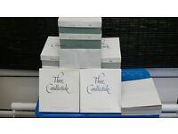 Three Candlestics Personal Envelopes plus some Paper