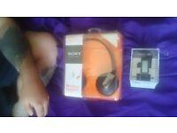 Sony Smart Watch & Sony Bluetooth Headphones