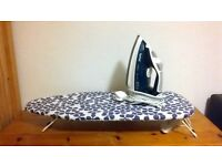 Tefal iron + ironing board