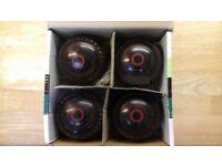 Bowls. For sale: set of four Henselite bowls. Size 3. Supergrip. BIBCF98.