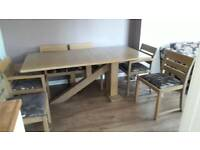Oak Dining Table Plus 6 Chairs Good Condition