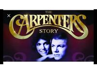 THE CARPENTERS STORY TICKETS x2 SUNDERLAND EMPIRE THEATRE 15 SEPT