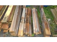 timber staircase spindles and newel posts