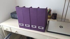 Fabric-coated magazine files