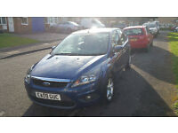 Blue Ford Focus in great condition