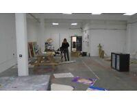 Artists studio, exhibition space/workshop. Big unit Hackney Wick