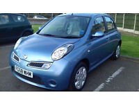 NISSAN MICRA 1.2 AUTOMATIC 5 DOOR, VERY LOW MILEAGE , EXCELLENT CONDITION ,/TOYOTA .FIAT.FORD.HONDA