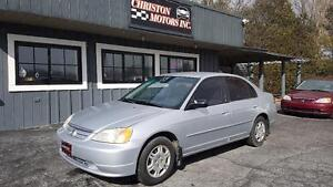 2001 Honda Civic CERTIFIED ETESTED ONLY  $1999+taxes