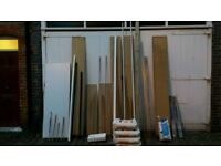 Building Materials Formica Worktop, wood for shelving, wc basin, pipe wraps, plastic pipe and more