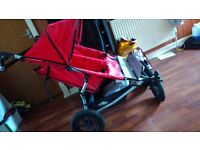 Urban terrain red double buggy