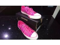 Converse - Pink Sequins - UK 6 - Brand New in Box